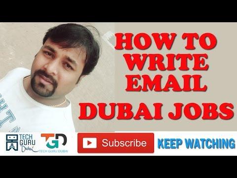 दुबई जॉब की ईमेल कैसे लिखे | DUBAI JOB | HOW TO WRITE EMAIL | HINDI URDU | TECH GURU DUBAI | PART 48