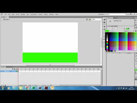 How to create a simple background in Adobe Flash CS6