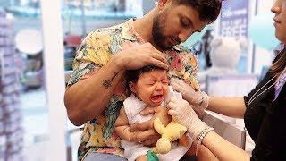 BABY GETS HER EARS PIERCED!!! *HARD TO WATCH*