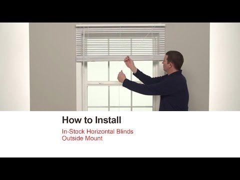 Bali Blinds | How to Install In-Stock Horizontal Blinds - Outside Mount