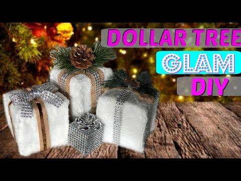 How to make Faux Fur Christmas Decor | christmas diy fake fur gift boxes