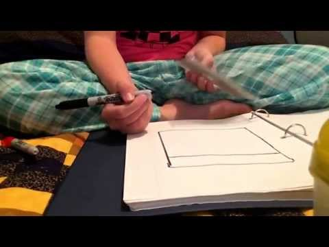 How to draw a cute crayon box