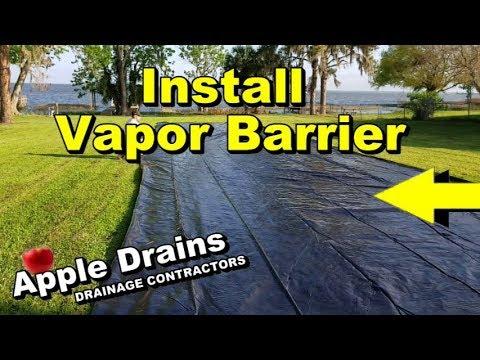 How To Install Vapor / Moisture Barrier, DIY