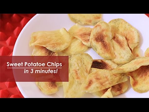 How to Make Sweet Potato Chips in the Microwave