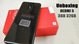 Unboxing Xiaomi Redmi 5 Black 3GB 32GB Reatail Unit (2018)🔥🔥