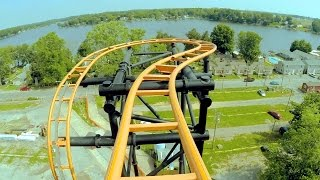 Steel Hawg front seat on-ride HD POV @60fps Indiana Beach