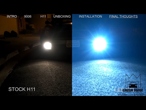 LED vs HID vs Stock Light Comparison. NOCTRNL Design unboxing, install and review
