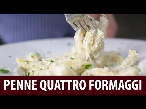 Easy Dinner Ideas | How to Prepare PENNE QUATTRO FORMAGGI Pasta at Home (Cooking Recipes)