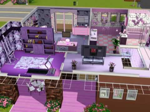 The Sims 3 - Pink: Hello-Kitty-house
