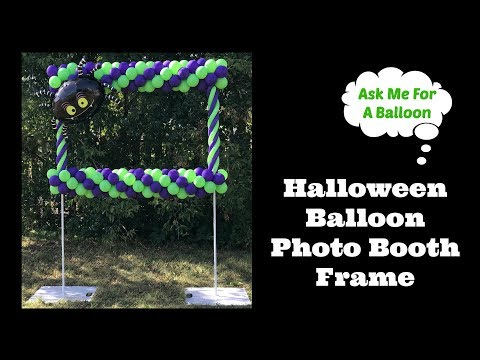 Halloween Balloon Photo Booth Frame
