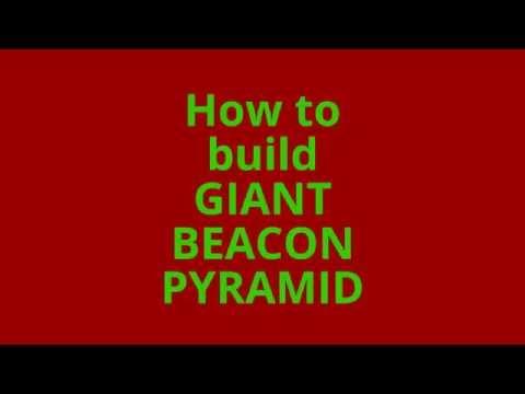 Giant Beacon Pyramid - Minecraft (How to build)