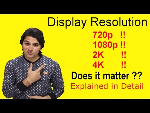 [Hindi-हिन्दी] Display Resolution Explained : 720p, 1080p, 2K or 4k !! #AnkushTyagiExplains