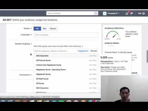 Targeting Iklan Facebook - Basic Preview