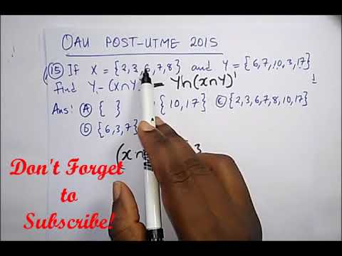 OAU Post UTME Past Questions Solved - PART 2 (Year 2015)