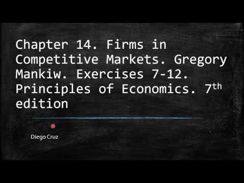 Chapter 14. Firms in Competitive Markets.   Exercises 7-12. Principles of Economics