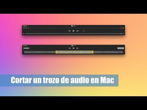 Cómo cortar un trozo de audio mp3 gratis en Mac