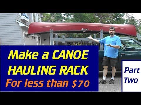 Make A Canoe / Lumber / Ladder Rack - Part#2