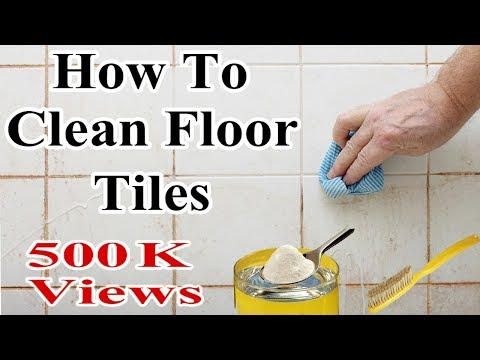 How To Clean Floor Tiles In One Minute -  It's A Magical Tricks To Clean Bathroom Tiles