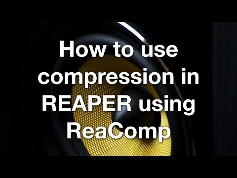 How to use compression in REAPER using ReaComp