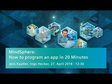 MindSphere: an app in 20 minutes