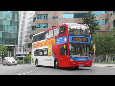 Trams Buses & Trains in Birmingham July 2017