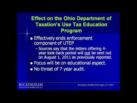 Ohio Use Tax Webinar- Part 1