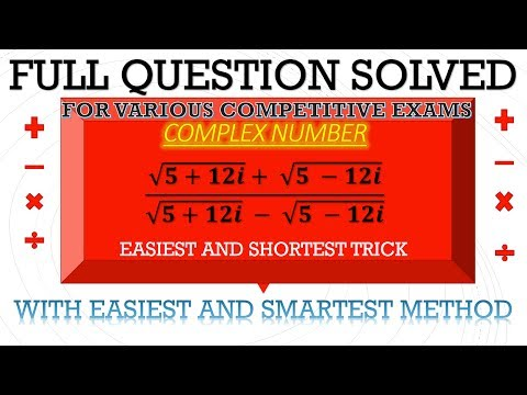 COMPLEX NUMBER EASIEST AND SHORTEST TRICKS