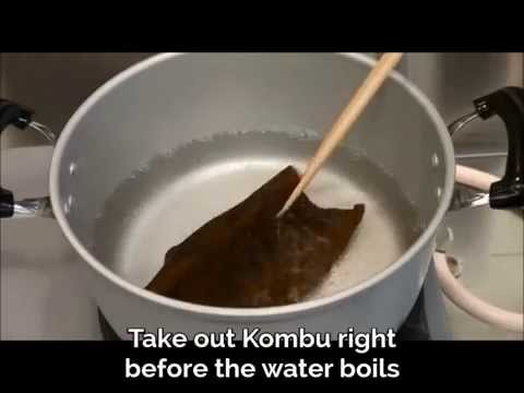 How to Make Kombu Dashi from hot water