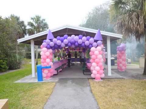 Princess Theme Party Decoration in a Park. DreamARK Events