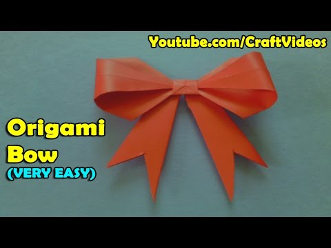Teachers Day Origami Gift | How to make an Origami Bow/Ribbon | Origami Bow | Easy Origami Bow