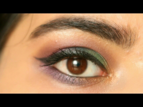 Easy Purple and Green Eye makeup Look | Naghma Syed