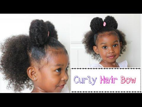 Curly Girl Hair Bow | Curly Hair Styles
