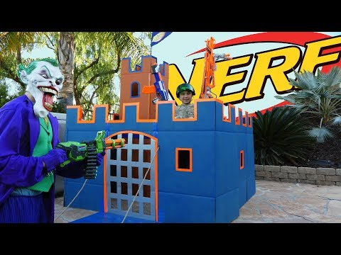 NERF BOX FORT CHALLENGE | HOW TO MAKE NERF FORTRESS DIY | LUCAS WORLD