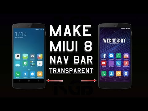 How to make Navigation Bar Transparent in MIUI ROM