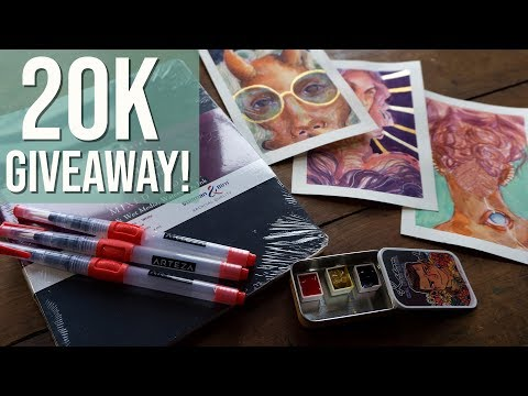 20K Subscriber GIVEAWAY! Art Supplies for You ♥ [closed]