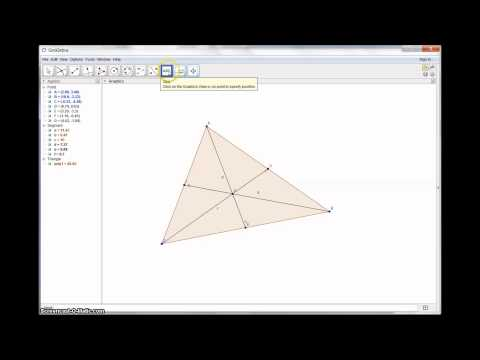 Medians of a Triangle Construction (Geogebra)
