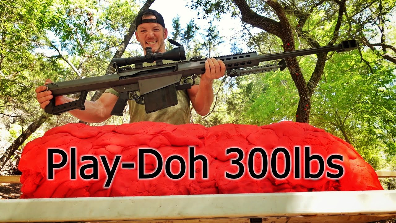Can 300lbs of Play-Doh STOP a Barrett Sniper Rifle?!?!