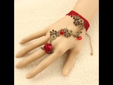 FANCY BRACELETS ATTACHED RING FOR GIRL, BEAUTIFUL JEWELLERY