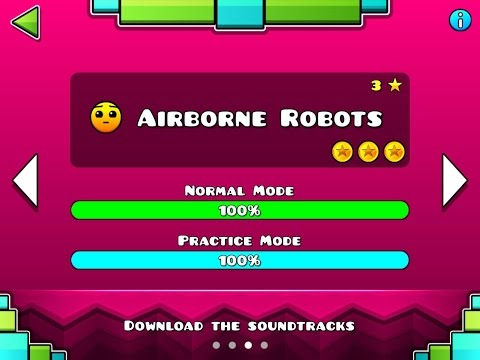 Geometry Dash MELTDOWN - Airborne Robots 100% - Level 3 - by RobTop (All 3 Coins)