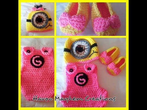 Tutorial How to Crochet a Baby Minion Costume (Part 1-Overalls) by Sabrina Sun