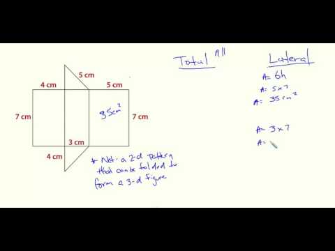 Lateral and Total Surface Area- Triangular Prism