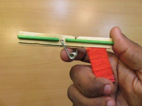 How to Make a Nano Powerfull Gun That Shoots (Using Pop Stick) - Easy Mini pocket Gun Tutorials
