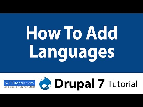 Drupal 7 - How To Add New Languages