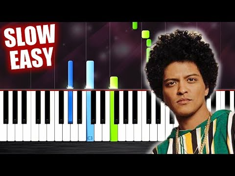 Bruno Mars - Finesse - SLOW EASY Piano Tutorial by PlutaX
