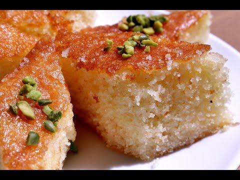 Semolina Cake | Soft Rava cake | Basbousa | Cookkurry