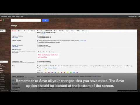 Gmail - Default Text Styling