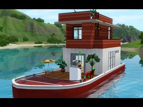 Let's play the Sims 3 Island Paradise  : Building a Houseboat !