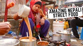 NEPALI STREET FOOD feast in KATHMANDU, Nepal   Best MOMOS in Kathmandu + traditional Newari food