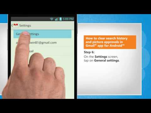 How to clear search history and picture approvals in Gmail® app for Android™ on LG L9