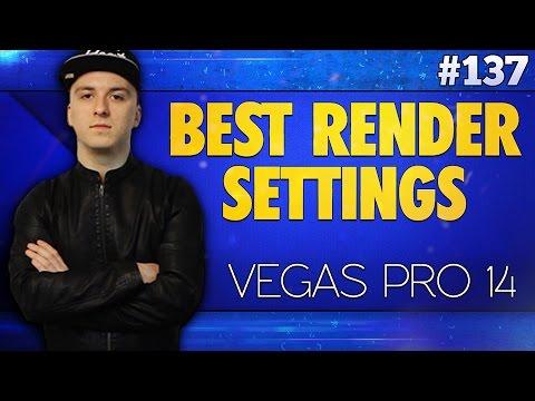 Vegas Pro 14: Best Render Settings for YouTube 1080p - Tutorial #137